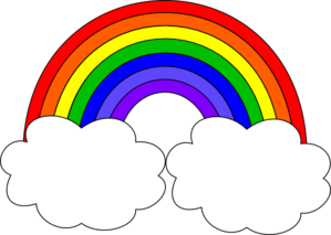 Black-and-white-rainbow-outline-free-clipart-images-2